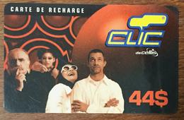LIBAN CLIC DE CELLIS RECHARGE GSM 44$ EXP 31/05/2001 PHONECARD PAS TELECARTE PREPAID PRÉPAYÉE - Libano