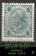 Österreich - Mi. Nr. 87 B - Gez. K 13 : 13 1/2 In Postfrisch - 1850-1918 Imperium