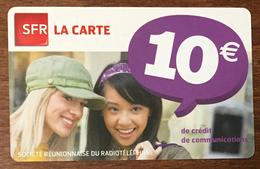 RÉUNION FILLES RECHARGE GSM SFR 10 EURO DU 04/13 CARTE PRÉPAYÉE PHONECARD CARD PAS TÉLÉCARTE - Réunion
