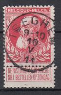 BELGIË - OPB - 1905 - Nr 74 - T2R (ISEGHEM) - COBA + 4.00 € - 1905 Thick Beard