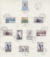 N° 2, 3, 4, 5, 6, 7, 11, 12, 13, 14, 15 Sur Feuillet Obl. Archipel Kerguelen TAAF 24/12/62 - Franse Zuidelijke En Antarctische Gebieden (TAAF)