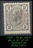Österreich - Mi. Nr. 120/121 + 123 A - Gez. K 13 : 12 1/2 In Ungebraucht - 1850-1918 Imperium