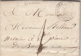 LETTRE. 27 NOV 31. T13 LA COTE ST ANDRE ISERE, DE CHATENAY POUR ST PIERRE DE BRESSIEUX. TAXE PLUME 1 - 1801-1848: Précurseurs XIX