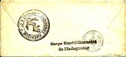 """CORPS EXPEDITIONNAIRE Sur Le Paquebot """"AMERIQUE""""dans Le Port D'ALGER -1895 - - Madagascar (1889-1960)"""