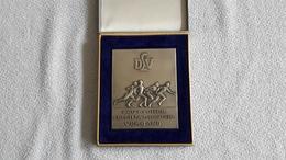 Große Plakette Im Etui DLV Deutscher Leichtathletik - Verband Zur Erinnerung Duisburg 5 / 6 Ok. 1957 Sport - Athletics