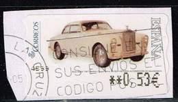 Spanien 2004,Michel# ATM 153 O Car (12) Rolls Royce (1947) Coupe - 1931-Hoy: 2ª República - ... Juan Carlos I