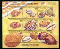 Solomon Islands 2002 Philakorea 2002 - Cowrie Shells Sheetlet MNH (SG 1024-1032) - Salomon (Iles 1978-...)