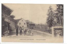 24875 - Amphion-les-Bains Rue Principale Paysans Et Vaches - Autres Communes