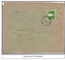 Palestine Palastina Lettre Ein Hashofet Ein Hashophet 1947  Cover Carta Belege Kibboutz - Palästina