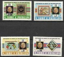 St Thomas & Prince -  1980 Rowland Hill Centenary MH *   Sc 573-6 - São Tomé Und Príncipe