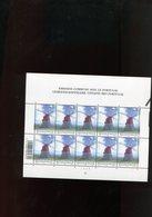 Belgie 2002 Nr 3092 Portugal JOINT ISSUE Windmills OLV Lombeek Roosdaal Acores Volledig Vel Plaatnummer 2 - Panes