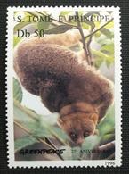 141.S.TOME E PRINCIPE 1996 STAMP, GREENPEACE, WILD ANIMALS .  MNH - São Tomé Und Príncipe