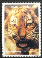 141.S.TOME E PRINCIPE 1996 STAMP, GREENPEACE, WILD ANIMALS, TIGER .  MNH - São Tomé Und Príncipe