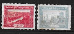 Deutsches Reich Propaganda Vignet Werbemarke Cinderella Advertisement Label Rheinland Ruhrgebiet In Not - Fantasie Vignetten