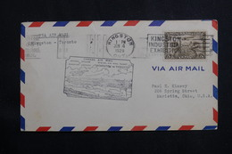 CANADA - Enveloppe 1er Vol Kingston  / Toronto En 1929, Affranchissement Plaisant - L 61017 - Briefe U. Dokumente