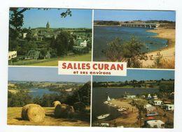 Cpm - SALLES CURAN Multivues Lac De Pareloup Pont Des Vergnes Lac De Bages Camping Le Rêve Du Pêcheur - Autres Communes