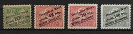 Deutsches Reich 4x Propaganda Vignet Werbemarke Cinderella Advertisement Label Schlessien Abstimmung - Fantasie Vignetten