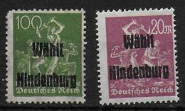 Deutsches Reich 2x Propaganda Vignet Werbemarke Cinderella Advertisement Label Wählt Hindenburg - Fantasie Vignetten