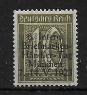 Deutsches Reich Propaganda Vignet Werbemarke Cinderella Advertisement Label Int. Briefmarken Händler Taag 1923 - Fantasie Vignetten