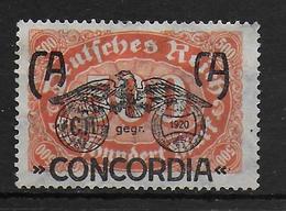 Deutsches Reich Propaganda Vignet Werbemarke Cinderella Advertisement Label Concordia - Fantasie Vignetten