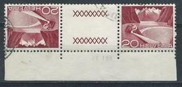 II-/-386-  Tête-bêche  Avec Pont, N° 485b,  Obl. Avec DATE  D'IMPRESSION Du 25.01.1952 ,  Cote 4.00 €   , Je Liquide - Tête-Bêche