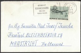 IC143   Austria 1969 Letter From Kroneuburg To Maastricth, Airplanes - International Airmail Exhibition - 1961-70 Briefe U. Dokumente