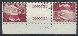 II-/-553-  Tête-bêche  Avec Pont, N° 485b,  Obl. Avec DATE  D'IMPRESSION Du 23.01.1952 ,  Cote 4.00 €   , Je Liquide - Tête-Bêche