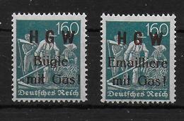 Deutsches Reich 2x Vignet Werbemarke Cinderella Advertisement Label Concordia HGW Gas - Fantasie Vignetten