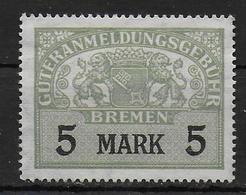 Bremen Revenue Stamp Stempelmarke Fiscal - Bremen