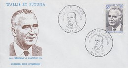 Enveloppe   FDC  1er  Jour     WALLIS  Et  FUTUNA    Président   POMPIDOU   1975 - FDC