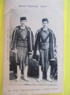 Crète - Types Of National Dress - Costume National     SOUVENIR 1907  TBE - Greece