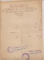 FINE ANNI 50 OTTAVIANO STAZIONE DI SAN GIUSEPPE VESUVIANO DISEGNO TECNICO - Planes Técnicos