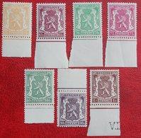 Staatswapen Complete Set 1945 1949 OBP 710-715 713A (Mi 730-735 A 840) POSTFRIS /MNH ** BELGIE BELGIUM - Unused Stamps
