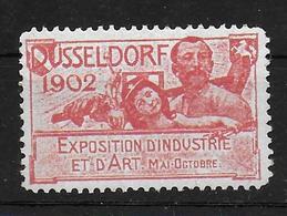 Deutsches Reich Industrie Expo 1902 Düsseldorf Vignet Werbemarke Cinderella Advertisement Label - Fantasie Vignetten