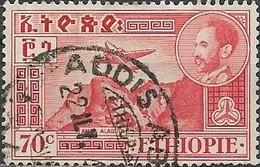 ETHIOPIA 1947 Air. Amba Alagi - 70c - Red FU - Äthiopien