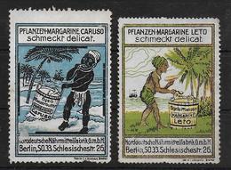 Deutsches Reich Caruso Leto Margarine Berlin Vignet Werbemarke Cinderella Advertisement Label - Fantasie Vignetten
