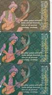 Turkey, TR-TT-N-0130, 130a And 130b, Set Of 3 Cards, Turkish Folk Poets, Karacaoglan, 2 Scans, - Turchia