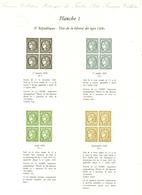 """Livre + 'planches' """"Le Trésor Des Timbres Poste De France 1849-1973"""" - Autres Livres"""