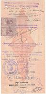 1937 ASSEGNO BANCA D'ITALIA FILIALE DI PADOVA + MARCHE DA BOLLO COLONIE 2 X0,05 - Chèques & Chèques De Voyage