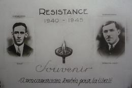 Belle Carte Dentelée 150 X 105 -RESISTANCE 1940- 1945 - Souvenir à Nos Camarades Tombés Pour La Liberté - Syndicat C.G.T - Syndicats