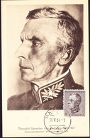 1951 Maximum Karte Theophil Sprecher Von Bernegg (1950). Stempel Maienfeld 31.05.1951 - Pro Juventute