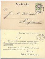 Bayern 1887, EF 3 Pf. Auf Firmen Vordruck Karte M. Klarem K1 Kempten. #1921 - Bayern