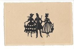 24871 -  Ombres Chinoises Découpage Femme Et Homme Danse - Silhouettes