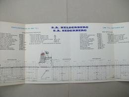 """Fascicule Porte-Conteneurs """"S.A. HELDERBERG"""" Chantier De France De Dunkerque (Nord ) 59 - Macchine"""