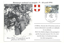 Glières Mars 1944 Un Guetteur Sur Le Plateau Hommage National Au Maquis 9-10 Avril 1994 - 1990-99
