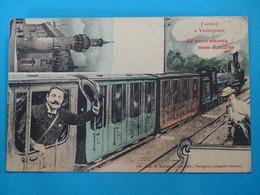 """43 ) J'arrive à Yssingeaux  Et Vous Envoie Mes Amitiés """" Train """" N° 138  - Année 1912 : EDIT : Machabert - Yssingeaux"""