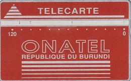 BURUNDI - Onatel Logo, Red 120 Units, CN : 406A, Tirage 12000, Used - Burundi