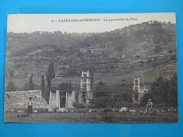 """07 ) Lalevade-d'ardèche - N° 9 - La Passerelle Du Prat - Construction Du Pont """" - Année 1928 : EDIT : B.F - France"""