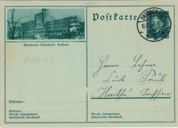 Ganzsache Dresden 1930 - Oberhausen Rheinland Rathaus - Ebert - Allemagne