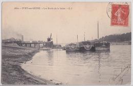 IVRY-SUR-SEINE - Les Bords De La Seine Le Port Et Le Pont De Conflans Péniche Grue - Ivry Sur Seine